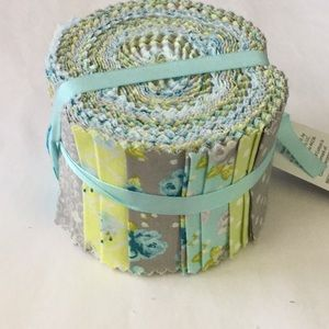 Springtime birds and dots jelly roll fabric